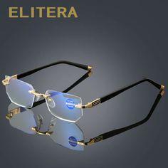 6a4975db12ee ELITERA Metal Rimless Women Men Reading Glasses Presbyopic Eyeglass Resin  Lense