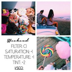 WEEKEND: this is a super cute bright filter. It's free & works on most photos. It looks good on a brighter theme so don't be afraid of color! ✨