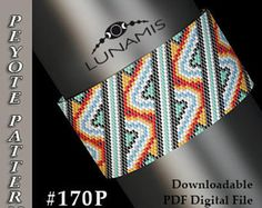 Peyote bracelet pattern, even count, peyote pattern, stitch pattern, pdf file, pdf pattern, #170P