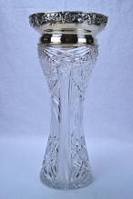 Gorham Sterling Silver Mounted Cut Glass Vase
