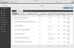 Flow Admin for Wordpress by Dariusz Fraczyk, via Behance