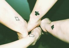 friendship tattoos, friend tattoos and sibling tattoos. Bff Tattoos, Group Tattoos, Insane Tattoos, Sibling Tattoos, Family Tattoos, Wrist Tattoos, Future Tattoos, Love Tattoos, Beautiful Tattoos