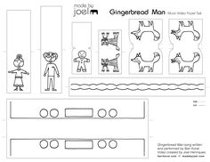 Made by Joel » Gingerbread Music Video and Printable Paper Toy