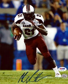 This is an 8x10 photo that has been hand signed by Marcus Lattimore. It comes with the tamper-proof PSA/DNA sticker and matching certificate for authentication.