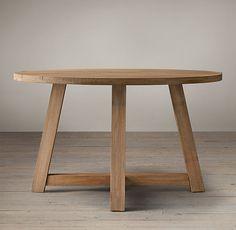 Salvaged Wood Beam Round Table