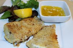 Almond crusted pan fried fish with garlic butter sauce.....this was sooooooo good!!