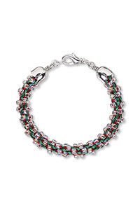 Bracelet with Dyna-Mites Seed Beads and Kumihimo