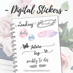 Printable Planner Pages, Planner Stickers, Printables, Printable Stickers, Journal Stickers, Cute Planner, Happy Planner, Digital Journal, Digital Art