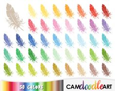 50 Feather Clipart,Bird Feather,Bird Clipart,Tribal Clipart,Boho Clipart,Wedding Clip,Scrapbooking,Planner Clipart,Sticker Clipart,png file by CamDoodleArt on Etsy