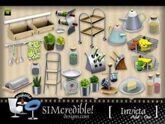 Sims 3 decor, decoration, objects, kitchen, clutter