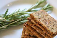 Rosemary and raisin almond pulp crackers