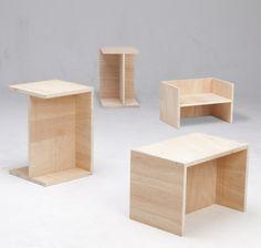 Der Berliner Hocker - ein Möbel allein bietet zehn Stell-Möglichkeiten (Foto: Daniela Kleint)    http://www.hartzivmoebel.de/