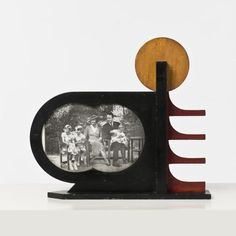 Larel Maes; Painted Wood Picture Frame, c1930.
