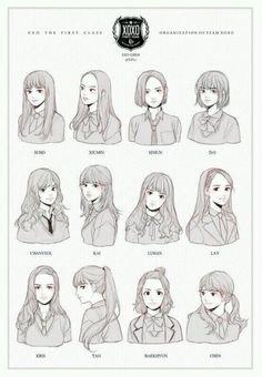 Girl versions of EXO members