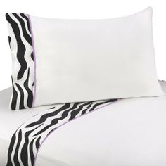 3pc Twin Sheet Set for Purple Funky Zebra Bedding Collection by Sweet Jojo Designs by Sweet Jojo Designs. $59.99. See below for matching accessories.. Twin Dimensions: Fitted Sheet (39 in x 75 in), Flat Sheet (66 in x 96 in) Pillow Case (20 inx 30 in). 1 Flat Sheet, 1 Fitted Sheet, 1 Pillow Case. This design has matching accessories such as hampers, lamp shades, window treatments and wall decor.. Machine Washable 100% Cotton sheet set with coordinating trim. Sweet Joj...