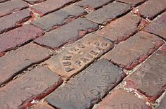 I want this look for the firepit!  Streets Paved with Purington Paver bricks.