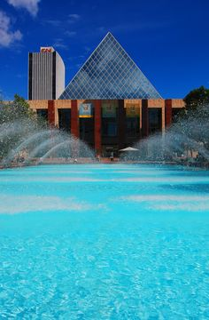 City Hall Fountains, Downtown Edmonton, Canada