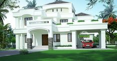 4 bedroom Colonial style double storied house plan in an area of 2981 square feet