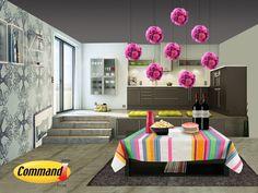 Decora tus fiestas con productos Command®    Utiliza productos Command®para decorar tus fiestas caseras, para cuidar hasta los más pequeños detalles