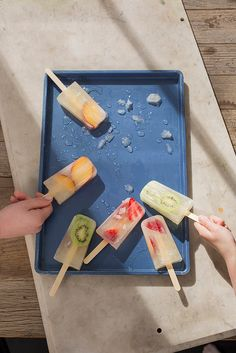 Looking for a healthy and delicious way to cool down? Try these easy-to-make Frozen Fruit-Salad Pops. #FitOneBoise #HealthySummer #FitOneKidsClub http://fitoneboise.org/befit365/blog/entry/summer-bucket-list-make-your-own-popsicles#.U9J9uajBOt8.facebook