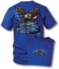 Corvette - Live to Drive a blue extra large (XL) new tee shirt w/free shipping/no fees