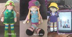Versiones de la muñeca Anni de anigurumis