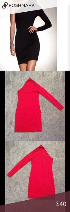 NWOT Victoria's Secret Red 1 Shoulder Sweaterdress NWOT Victoria's Secret/Moda International Red One Shoulder Sweaterdress, Size Small, New in original packaging, I wore it in black-can find a pic later Moda International Dresses One Shoulder