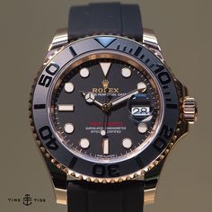 New Rolex Yachtmaster - now in Everose and with a rubber 'oysterflex' bracelet - comes in 40mm and 37mm options.