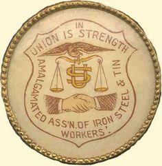 Union Logo, Iron Steel, Buttons, Steel, Plugs