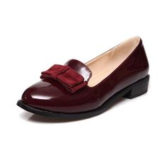 Women Oxfords Vintage Shining Pu Leather Flat Oxford Shoes For Women Fashion Bow Flats Ladies Casual Slip-on Flat Loafers Shoes