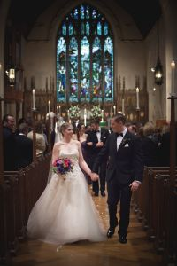 Details: October 11, 2014 at Christ Church of Greenwich (ceremony) & Whitby Castle of Rye Golf Club (reception) / Designers: Liancarlo (bridal gown & veil), Noir by Lazaro (bridesmaids) / Photographer: Nate Creamer