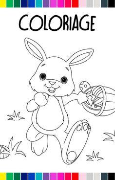 Coloriage Gratuit Pour Paques.173 Meilleures Images Du Tableau Coloriages Paques En 2019 Easter