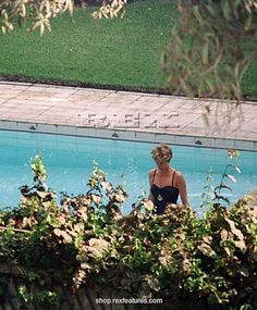 Princess Diana swimming in the pool at the residence of the British Ambassador in Cairo, Egypt - Stock Image Norfolk, Diana Williams, Prinz William, Prinz Harry, Diana Fashion, Hm The Queen, Diane, Lady Diana Spencer, Prince Of Wales