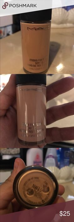 MAC prolong wear foundation -Nw15 shade- Used twice, barely any though, I wear make up very lightly. I'd say 98% is still in it. Too light for me. Nw15 shade* MAC Cosmetics Makeup Foundation