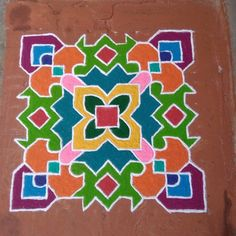 Indian Rangoli Designs, Simple Rangoli Designs Images, Rangoli Designs Flower, Rangoli Border Designs, Rangoli Designs With Dots, Rangoli With Dots, Dot Rangoli, Rangoli Borders, Rangoli Patterns