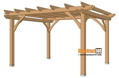 There are lots of pergola designs for you to choose from. You can choose the design based on various factors. First of all you have to decide where you are going to have your pergola and how much shade you want. Retractable Pergola Canopy, Building A Pergola, Small Pergola, Pergola Swing, Pergola Attached To House, Pergola With Roof, Wooden Pergola, Diy Deck, Outdoor Pergola