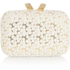 Kotur Margo floral-lace box clutch ($395) ❤ liked on Polyvore