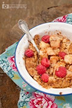 Whole30 Apple Almond Bake with Raspberries Recipe