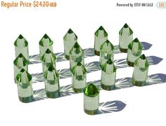 50% Off Sale Matched Pair AAA Green by GemsAndBeadsEmporium