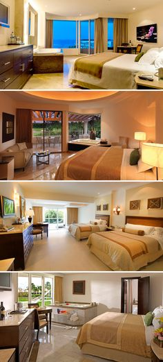 The Moon Palace Cancun has a wide range of rooms to choose from including: ocean front rooms, family deluxe suites that fit a family of six, junior golf suites, and their newest addition, the Grand section suites.