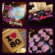 80s party theme for a 30th birthday.. I turn 30 this fall. I should do this! Too bad all my friends are far far away :(