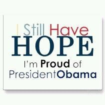 Four more years!My husband has a job as a engineer, because of stimulus money.I can't get medical insurance due to a pre-existing condition, Fibromyalgia.I need Obama!