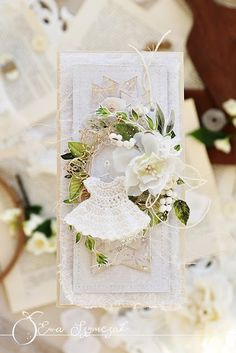 [New] The 10 Best Craft Ideas Today (with Pictures) - Your interpretation of our July moodboard can also be very delicate just as this amazing card by . Baby Crafts, Fun Crafts, Arts And Crafts, Paper Crafts, Lemon Crafts, Baptism Cards, Baby Shawer, Shabby Flowers, Baby Scrapbook