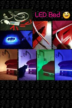 Attached led rgb light strip to cinder block bedframe via sticky attached led rgb light strip to cinder block bedframe via sticky back velcro for easy dissemble aloadofball Image collections