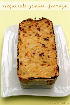 Croque cake jambon - fromage façon Weight Watchers -2SP la tranche