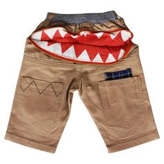 Bite Me Short from Hootkid! Little Boys, Elastic Waist, Bermuda Shorts, Cool Style, Kids Outfits, Khaki Pants, Clothes, Collection, Kids Clothing