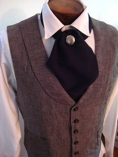 Guys vest, shirt & ascot for steampunk