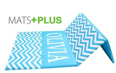 custom chevron folding mat! great for little gymnasts or at home gyms