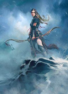 """Fantasy Hunter by Wangjie Li """