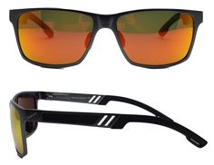 e5c7cd11e1a Wayfarer Mg Black Sunglass frame with Sunburst Polarized lenses - Outlaw  Eyewear Women s Jackets